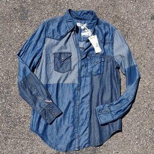 Diesel De-Vivy-Cut Denim Shirt $228 Retail